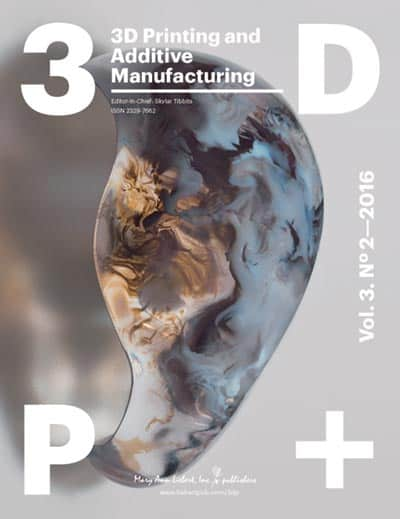3D Printing and Additive Manufacturing Vol. 3, No. 2
