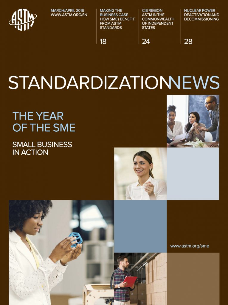 ASTM International Standardization News Cover March April 2016