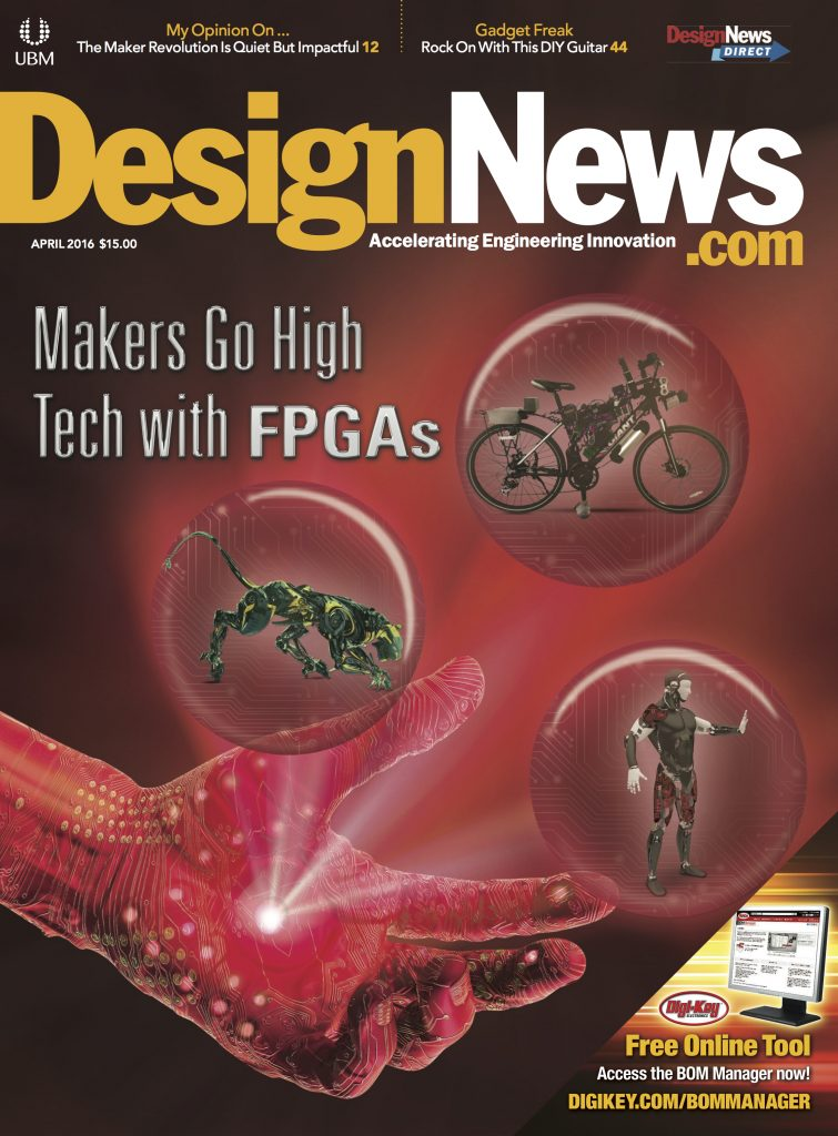 Design News April 2016 Cover
