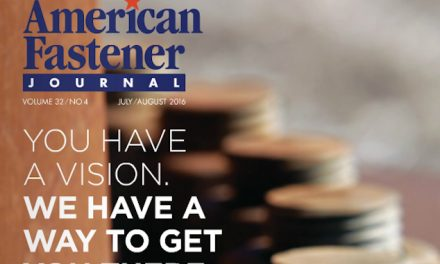 American Fastener Journal Volume 32 – No. 4, July/August 2016