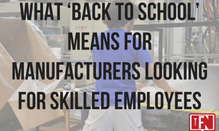 What 'back to school' means for manufacturers looking for skilled employees