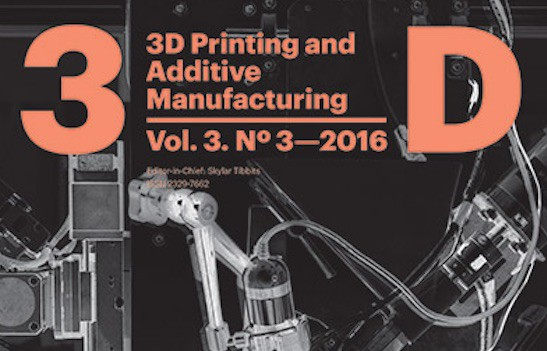 3D Printing and Additive Manufacturing, September 2016