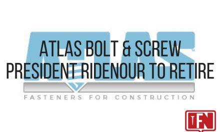 Atlas Bolt & Screw President Ridenour to Retire