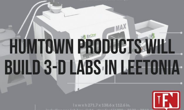 Humtown Products Will Build 3-D Labs in Leetonia
