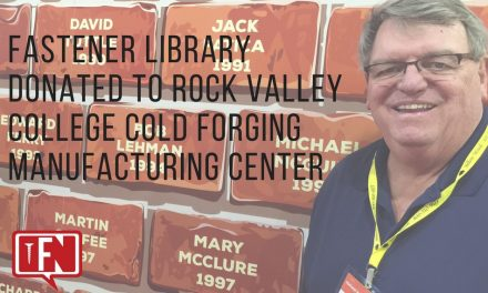 Fastener Library Donated to Rock Valley College Cold Forging Manufacturing Center