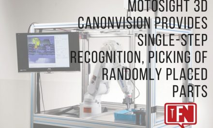 MotoSight 3D CanonVision Provides Single-Step Recognition, Picking of Randomly Placed Parts