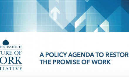 A Policy Agenda to Restore the Promise of Work