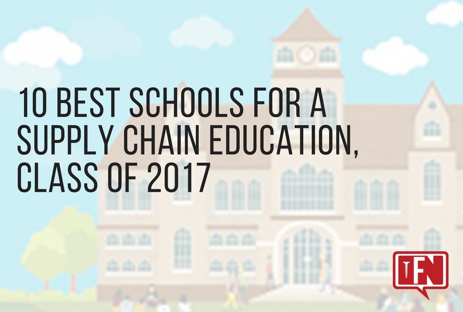 10 Best Schools for a Supply Chain Education, Class of 2017