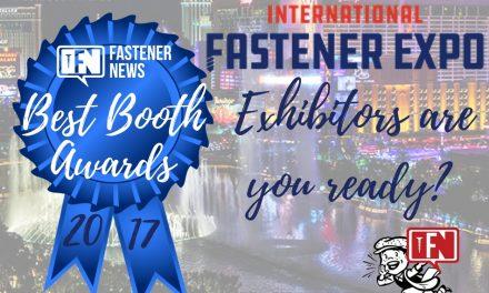 Fastener News Desks' Best Booth Awards Return to the 2017 International Fastener Expo