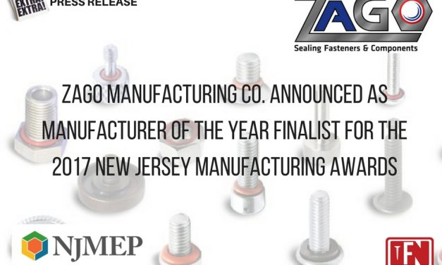 ZaGO Manufacturing Co. Announced as Manufacturer of the Year Finalist for the 2017 New Jersey Manufacturing Awards