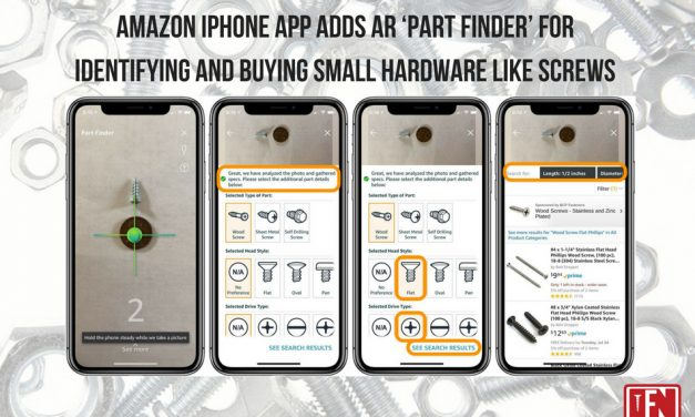 Amazon iPhone app adds AR 'part finder' for identifying and buying small hardware like screws