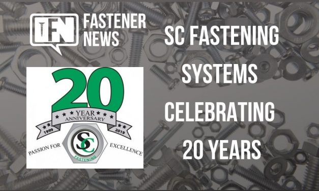 SC Fastening Systems Celebrating 20 Years