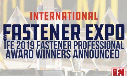 IFE 2019 Fastener Professional Award Winners Announced