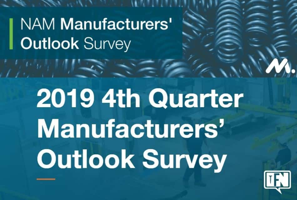 NAM Manufacturers' Outlook Survey: Fourth Quarter 2019