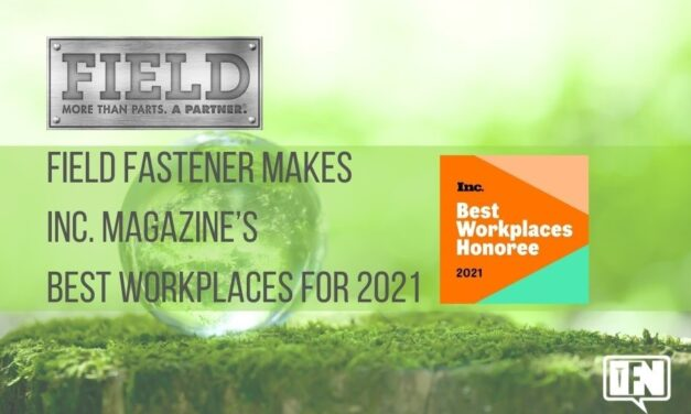 Field Fastener Named to Inc. Magazine's Best Workplaces for 2021