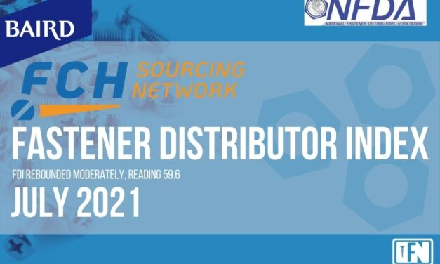 FASTENER DISTRIBUTOR INDEX (FDI) | JULY 2021