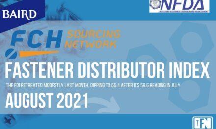 FASTENER DISTRIBUTOR INDEX (FDI) | AUGUST 2021