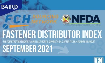 FASTENER DISTRIBUTOR INDEX (FDI)   SEPTEMBER 2021